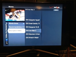 Screen shot of Verizon FiOS VOD Movie menu