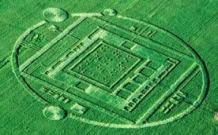 crop circle with braille code inside