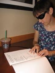 braille Starbucks menu