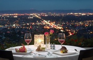 candle lit romantic table setting