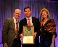 Brian Mac Donald, Boston Mayor Martin J. Walsh and Shelly O'Neill