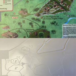 A print map and final tactile map design